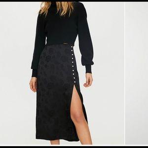 Aritzia Wilfred Baroque Skirt Black Size